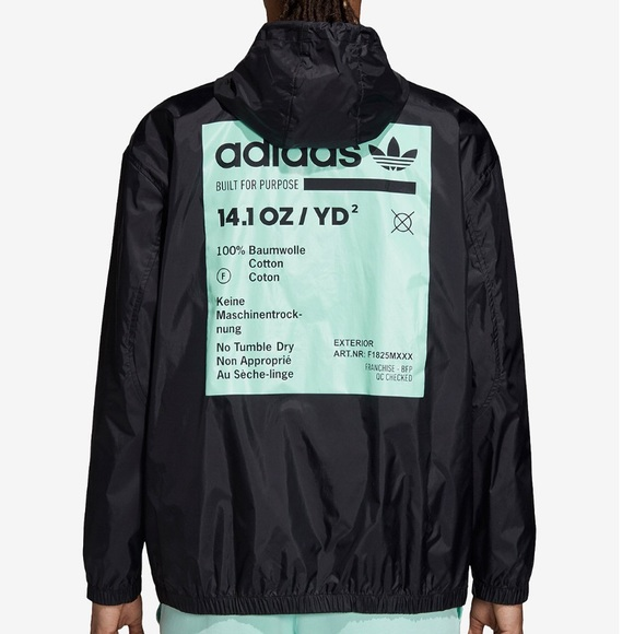 new design exclusive shoes 100% quality Adidas kaval graphic half zip hooded windbreaker NWT
